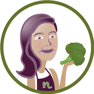 Cartoon of Nosh Nerd and Broccoli